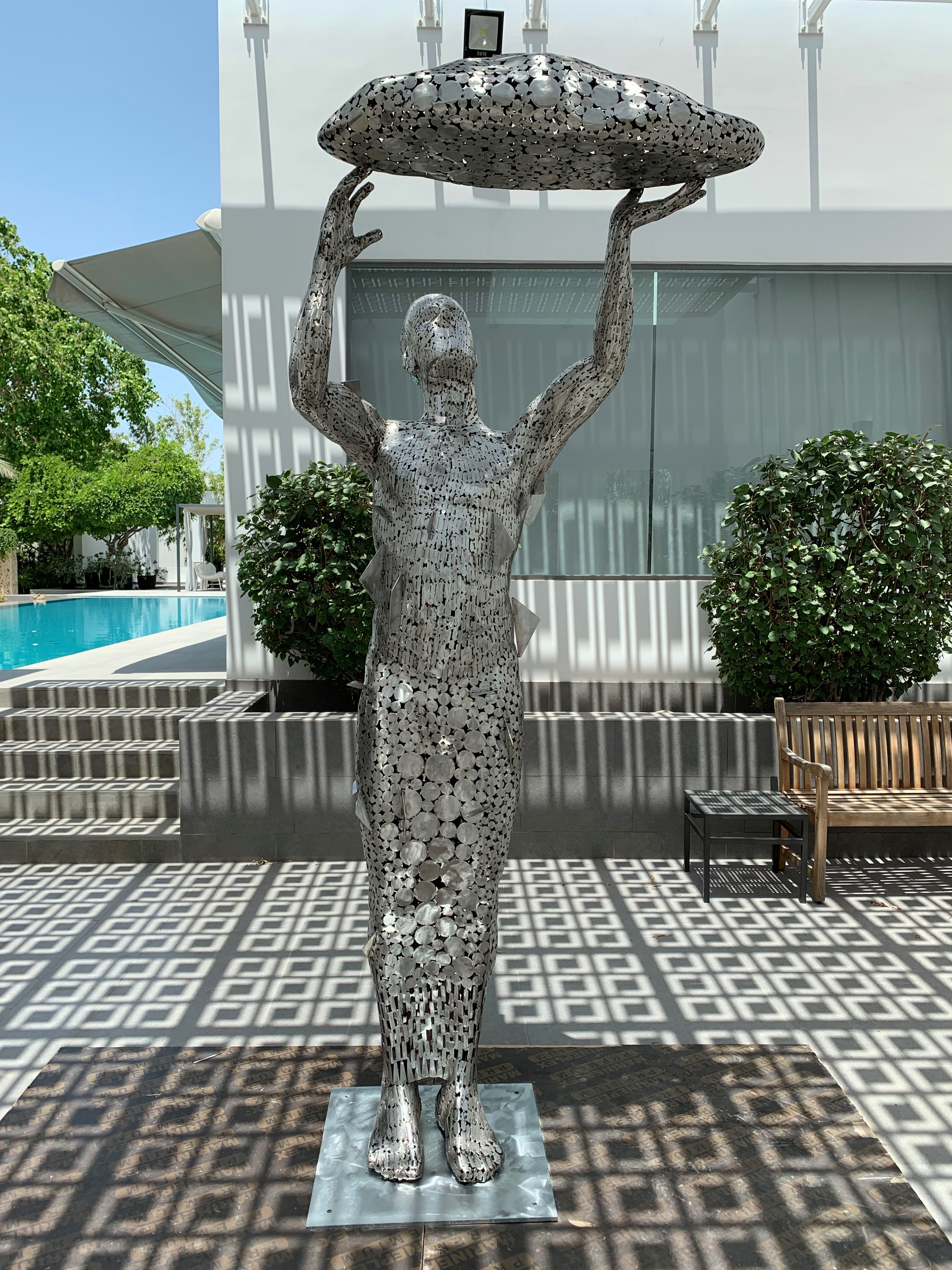 He Dares to Dream- Stainless Steel , 2019 2.75m Height, 1.06 Width, 0.8m Depth